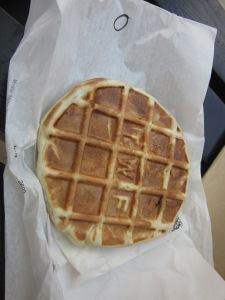 Savory waffle sandwich...I guess a spinoff of chicken & waffles...I guess
