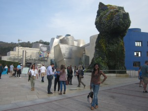 In front of the Guggenheim Museum