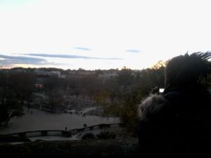 Abena taking in the view