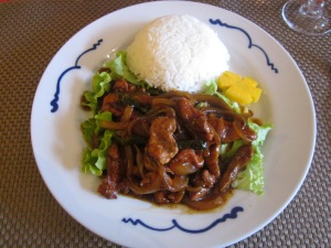 Caramelized pork with rice